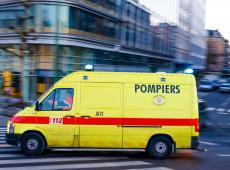 Brandweerwagen in Brussel