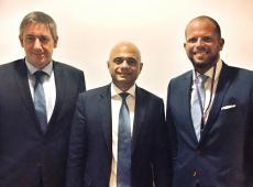 Jan Jambon, Sajid Javid en Theo Francken