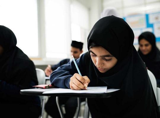 Leerling in islamitische school
